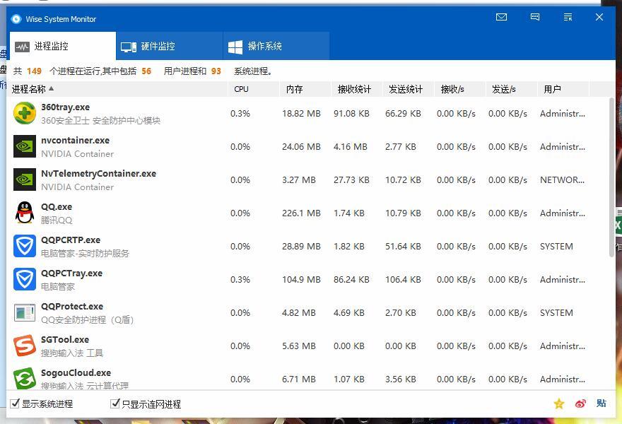 QQ截图20190604235157.jpg Wise System Monitor电脑流量监控软件 互联网IT